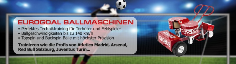 Ballwurfmaschinen für Fußball - Torwart und Feldspieler Training