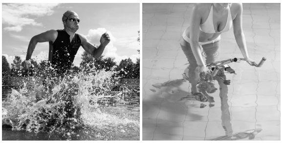Viskositäts Training unter Wasser