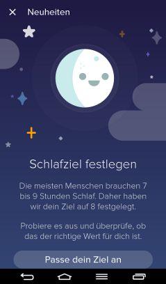 Fitbit App Schlafziel festlegen